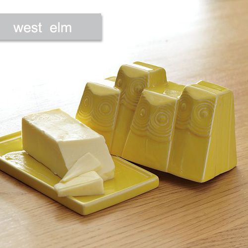 West Elm Butter Dish #owl # butter #dish #ceramic: Kitchens, Westelm, Butterdish, Gifts Ideas, Elm Butter, Butter Dishes, Owls, West Elm, Owl Butter