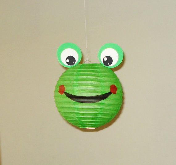 frog Paper Lantern. Party Decorations Baby by nicedecorations