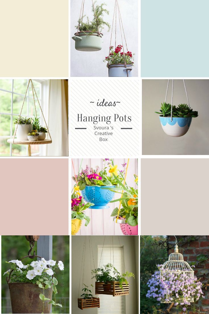 Hanging Pots Ideas to decorate your balcony or your garden!