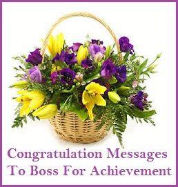 Congratulation Messages : Boss For Achievement ...