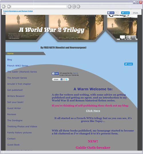"""An example of what I don't like and I am sure doesn't appeal to you either. But i thought it would be helpful to show you what I don't like. 1. The design is too busy. 2. The pastel colours are dull. 3. I don't like the headline font """"A World War II trilogy"""". It's old fashioned, which, in itself is not a bad thing but it doesn't fit with the the look and feel and other fonts. 4. You have to scroll to see all the information."""