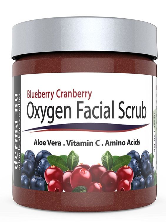 Blueberry Cranberry Oxygen Facial Scrub – Facial Exfoliator packed with Anti Aging Antioxidants for Radiant Skin. All Natural and Organic Great for All Skin Types including Dry or Sensitive. 9oz * Want additional info? Click on the image.