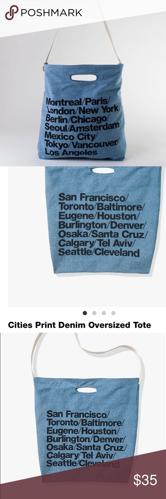 🆕 American Apparel Cities Denim Tote Bag new Brand new with tags! Get this iconic bag while you still can. American Apparel Bags Totes