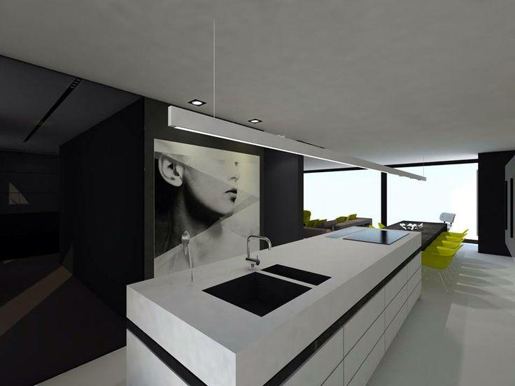 Keukeneiland met aansluitende tafel Huis ideeën
