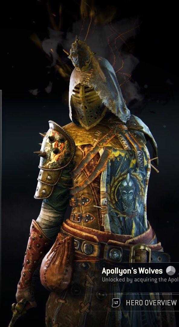 My Peacekeeper Loadout 2 For Honor Apollyon S Wolves Mask For Honor Art Wolf Mask Medieval Fantasy