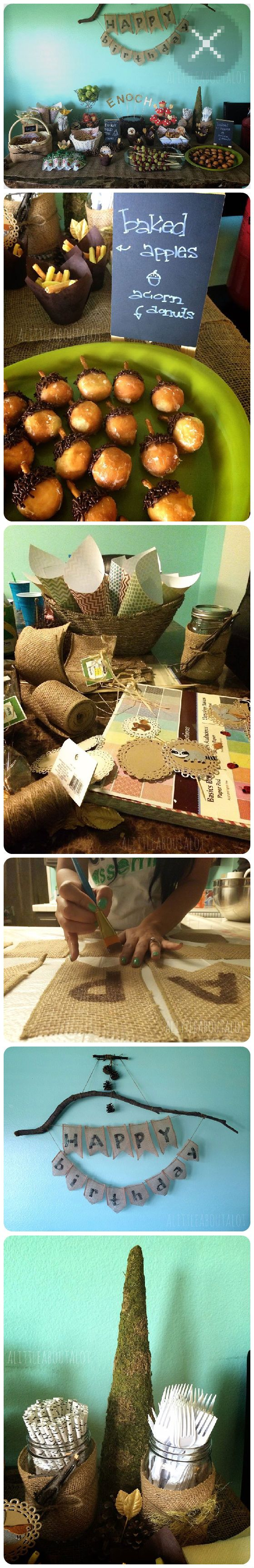 How to Throw a DIY Woodland Themed Party #craft #food #diy
