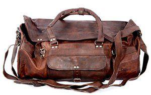 Cool Stuff Cuir bagage à main sac de voyage bagage cabine sac de sport sac en bandoulière sac en cuir besace cabas en cuir marron