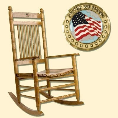 To honor and celebrate America, Cracker Barrel is proud to offer a limited edition of the American Flag rocker, engraved with ''United We Stand.'' Additionally, a portion of the proceeds will be donated by Cracker Barrel Old Country Store to the Wounded Warrior Project(TM).