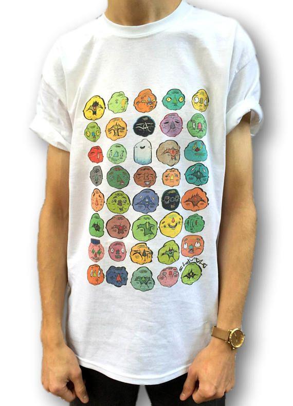 Indie-T-Shirt grafische T-Shirt Cartoon T-Shirt für Männer