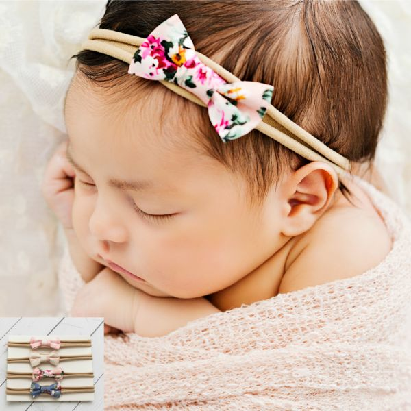 "Her day will be nothing but sweet every time she wears our ""Mini BOW Set 3"" baby Newborn SET of 4. These headbands a so soft and stretchy! One size fits preemies to young children and they won't leave any marks on your babies head. Perfect itty bitty bows for you little one. It will fit preemies,newborns and toddlers. It is perfect to wear for any occasion, whether it be at a photo shoot, playing in the park, or an important event. These headbands are so cute and a a must have!! One Size…"