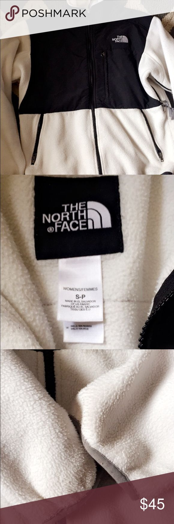 Women's small black and white north face jacket Amazing condition NO STAINS need gone North Face Jackets & Coats