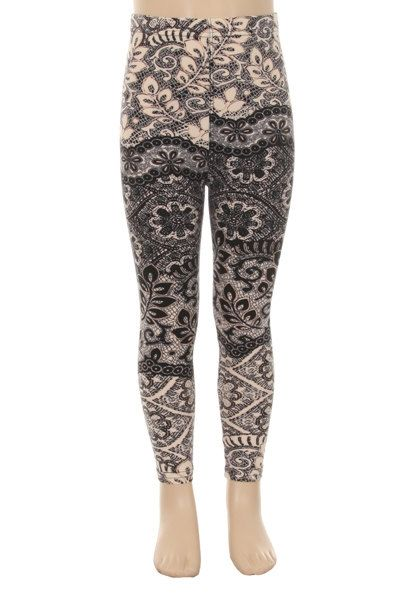 Kids Lace Print Leggings by SweetDesignsApparel on Etsy
