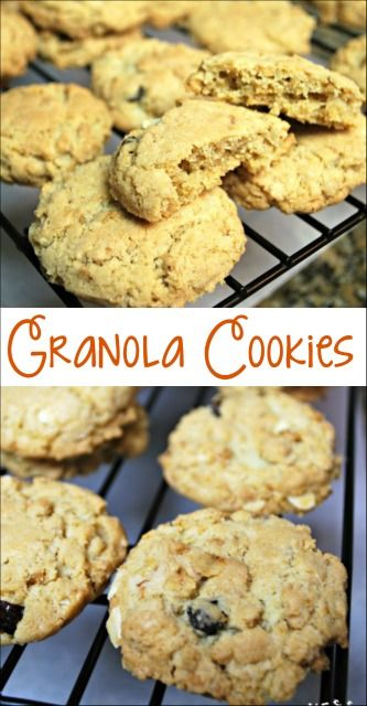 If you like oatmeal cookies you will love these crunchy and chewy granola cookies made with granola cereal. Easy to make and addictive!