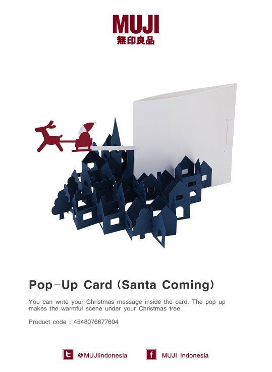 Joyful pop up card -Santa Claus Coming-