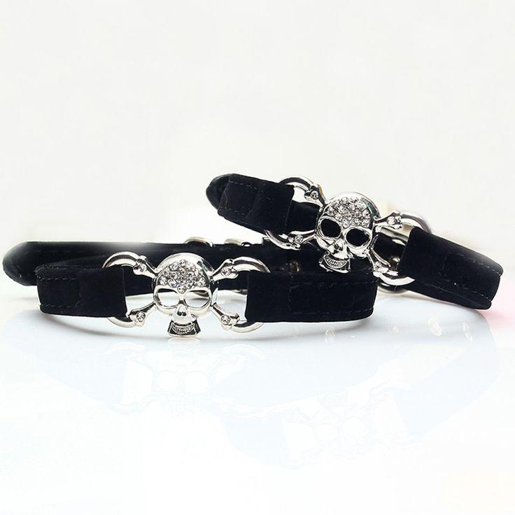 Crystal Classy Skull Puppy Collar //Price: $14.69 & FREE Shipping //     #skull #skullinspiration #skullobsession #skulls