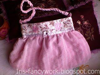 My Fancywork Blog: Розовая вечерняя сумочка.