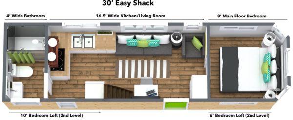 Best 25 full bed loft ideas on pinterest boys full bed for Tiny house with main floor bedroom