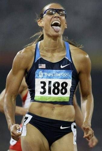 Lolo Jones.... Super into hurdles right now. I would die if I had to to that... Death by hurdle