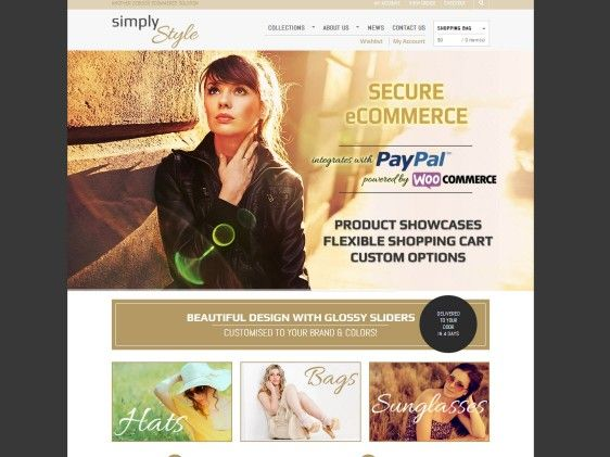 Simply Style is a clean, simple yet stylish #websitedesign. This #ecommerce website is perfect for an online #fashion #homewares or #furniture shop. Featuring #socialmedia functionality, home page sliders and PayPal integration.