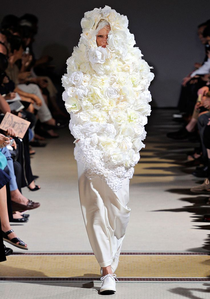 and this is why I will never understand fashion. Tissue paper and a glue gun perhaps?