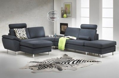 Multibygg couch black fabric danish design hjort knudsen zebra patterned carpet www.helsetmobler.no