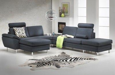 Multibygg couch black fabric danish design hjort knudsen zebra patterned carpet www.helsetmobler.no