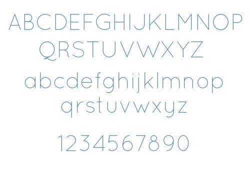 railway thin free font