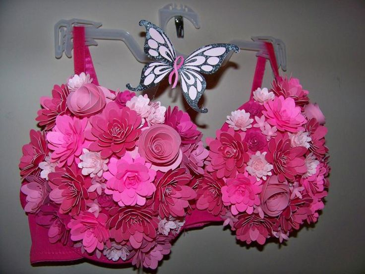 With Glittering Eyes: Decorated Bras for Breast Cancer Awareness
