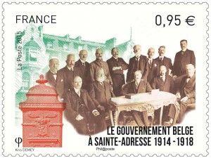 Timbre du gouvernement belge à Sainte-Adresse.