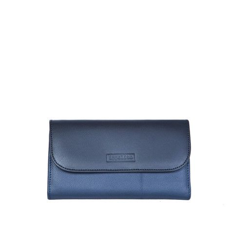 Zaira Wallet in Blue & Black
