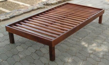 All our goods are custom made to your needs. Single size bed frame