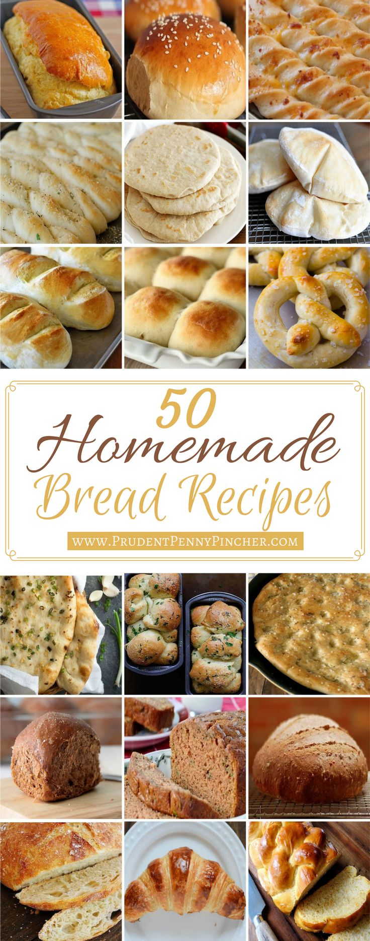 50 Homemade Bread Recipes