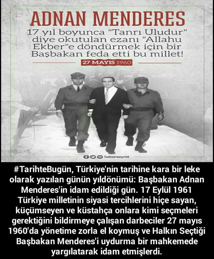 Adnan Menderes #27Mayıs #Darbe #CemalGürsel #idam #AtatürkünAskerleri #Hürriyet #Sözcü #Meclis #Miletvekili #TBMM #İsmetİnönü #Atatürk #Cumhuriyet #KemalKılıçdaroğlu #RecepTayyipErdoğan #türkiye#istanbul#ankara #izmir#kayıboyu #laiklik#asker #sondakika #mhp#antalya#polis #jöh #pöh#dirilişertuğrul#tsk #Kitap #OdaTv #chp#KurtuluşSavaşı #şiir #tarih #bayrak #vatan #devlet #islam #gündem #türk #ata #Pakistan #Adalet #turan #kemalist #Azerbaycan #Öğretmen #Musul #Kerkük