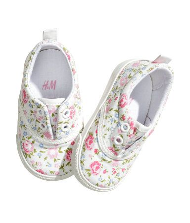 These mini floral tennies for a baby girl are adorbs