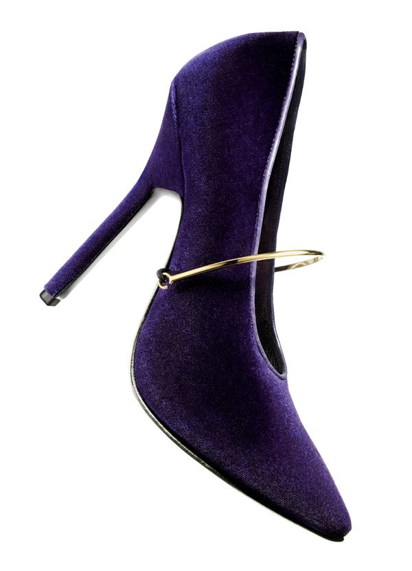Purple GIVENCHY  Violet velvet pump with gold bracelet mary jane strap   >>>  Ahhhhhhhhhh *Mariah Carey high note*