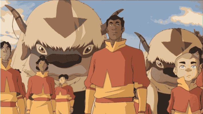 """Legend of Korra: A whole new host of air nomads! Are they merely Tenzin's acolytes or genuine, honest-to-goodness airbenders? 