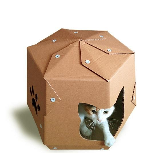 Spacetastic Martian Cardboard Cat House Is Sustainable Cat Bed, Suitable  For Your Home Interior, Build From Cardboard   Favorite Material For Your  Kitty.