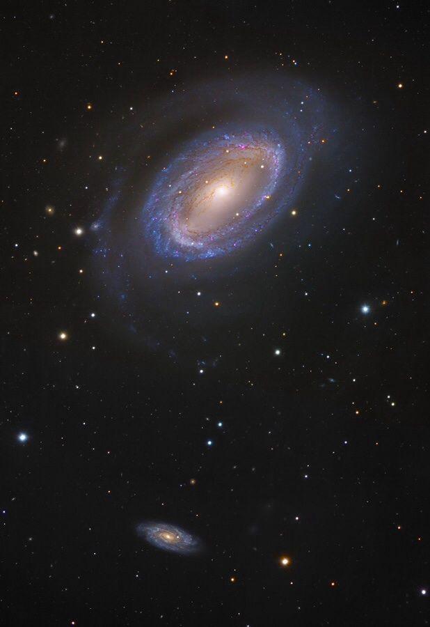 NGC 4725 | Image Data: Subaru Telescope (NAOJ), Hubble Space Telescope