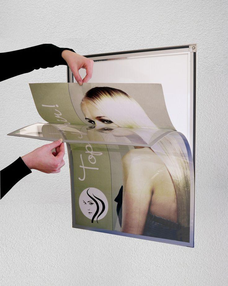 MAGNEDOOR SLIM Poster Displays - http://magnusongroup.com/products/posterdisplay/magnedoorslim.html