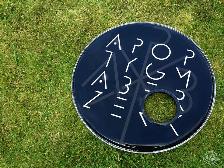 "Drum Candy #Bassdrumhead for the great ""Apoptygma Berzerk"". REMO #Powerstroke 22"" with 5"" BassDrumO."