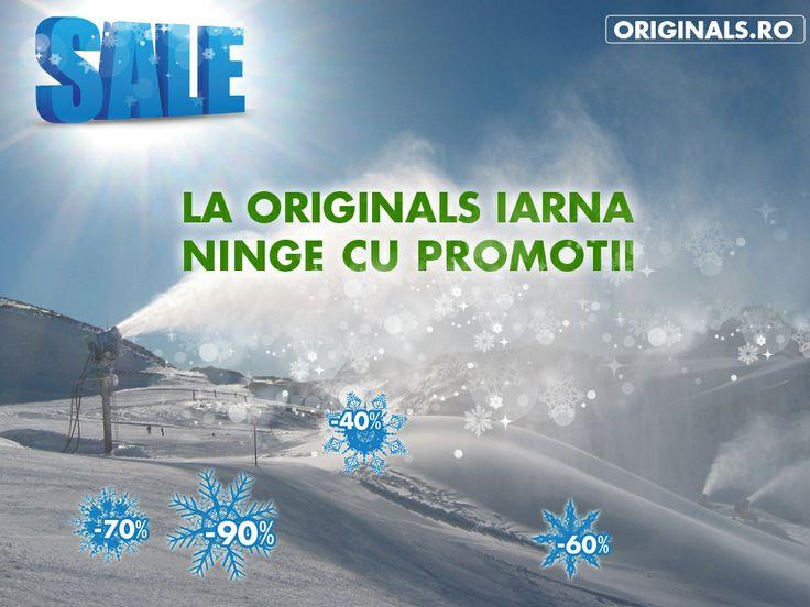 La Originals iarna ninge cu promoții! --> http://www.originals.ro/SezonReduceri