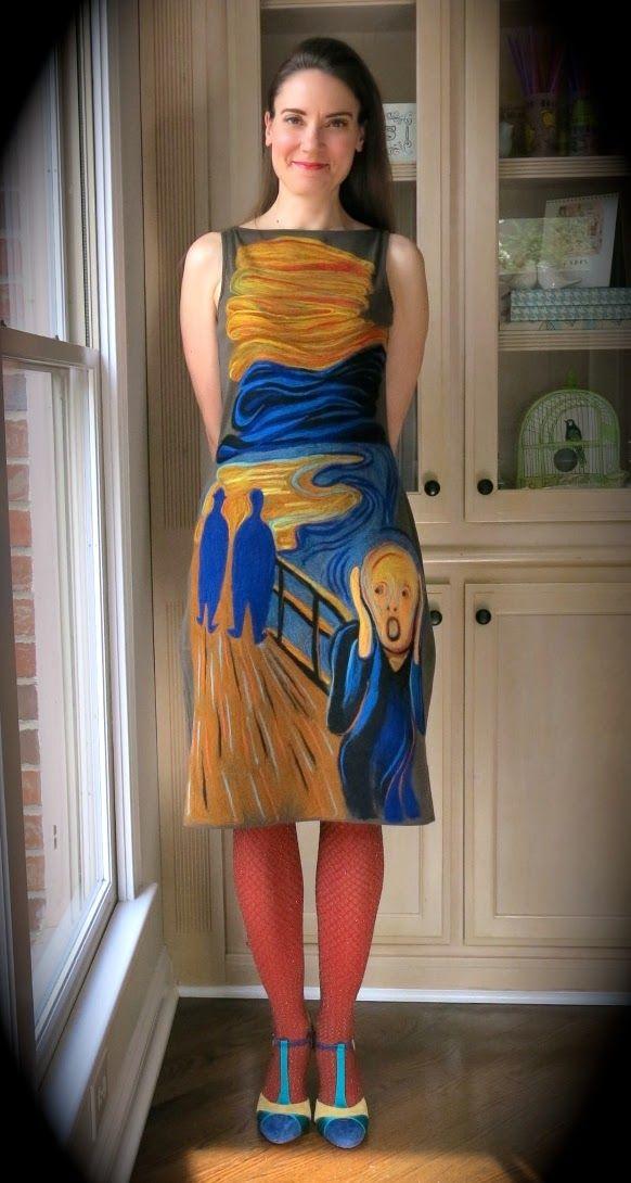 DIY: Felting a Dress is a Scream!