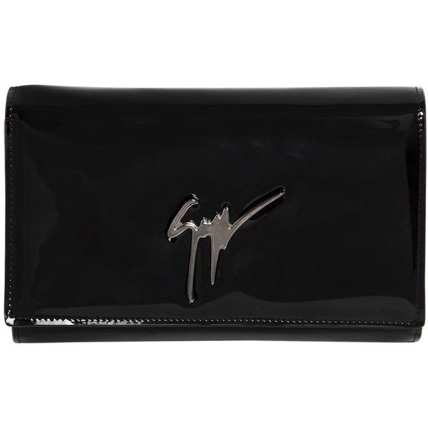 Giuseppe Zanotti Design Women Logo Patent Leather Clutch ( 770) ❤ liked on Polyvore  featuring cac39c0fbd0fb