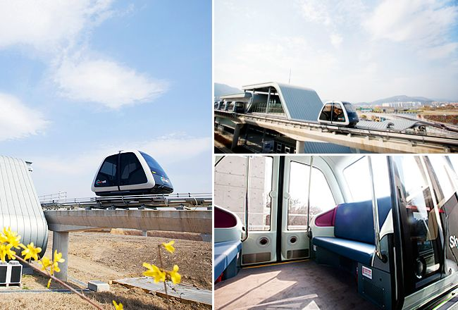 """""""Sky Cube, the country's first fully unmanned Personal Rapid Transit (PRT), officially opened on April 20, 2014, giving passengers better views of Suncheon Bay Garden and the area's great natural surroundings."""" - http://english.visitkorea.or.kr/enu/FU/FU_EN_15.jsp?cid=1917408"""