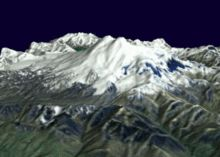 Mount Elbrus - 3D Rendering The highest peak in Europe!