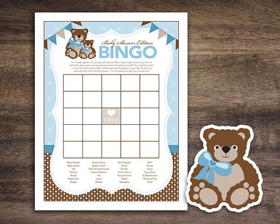 Instant Download Teddy Bear Theme Baby Shower by Studio20Designs, $1.50