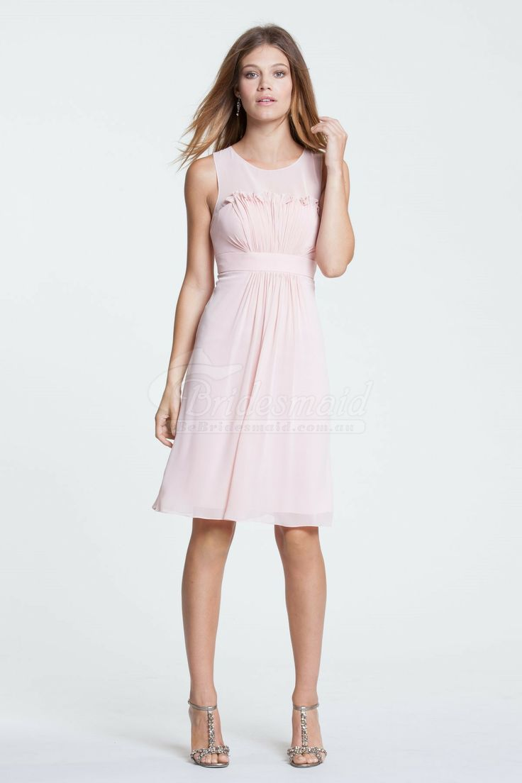 26 best pink bridesmaid dresses images on pinterest bridal gowns scoop knee length chiffon bridesmaid dresspink bridesmaid dresses ombrellifo Image collections