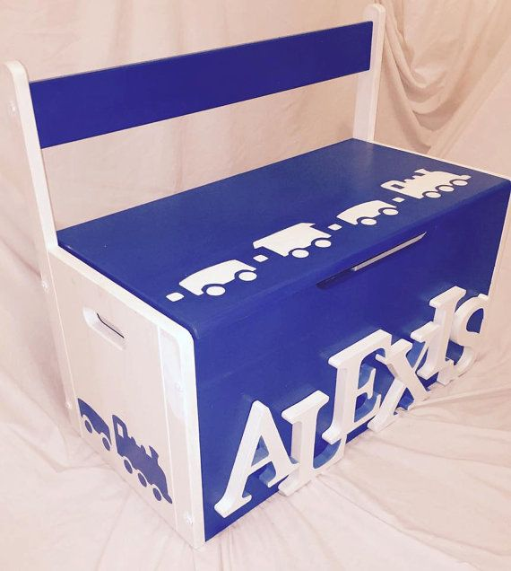 Personalised Toy Box Hand painted & made to order by ThatsMyBox