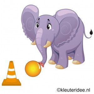 Begeleide of zelfstandige activiteit - Gymles olifanten voor kleuters