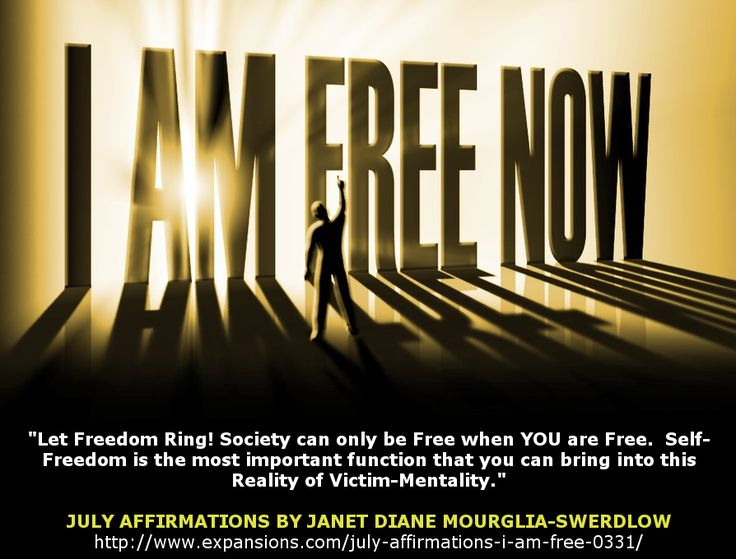 Let Your Freedom Ring! Become a ‪#‎Expansions‬ Member today to read these inspirational ‪#‎DailyAffirmations‬ by Janet Diane Mourglia-Swerdlow. http://www.expansions.com/july-affirmations-i-am-free-0331/